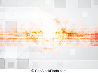 Bright tech elements on the grey backdrop. Vector design eps 10