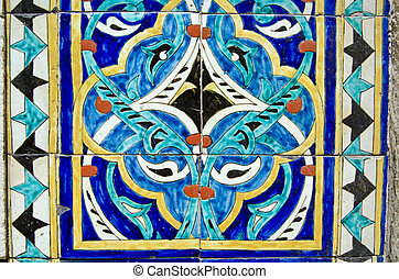 Colourful tiles, Istanbul Mosque