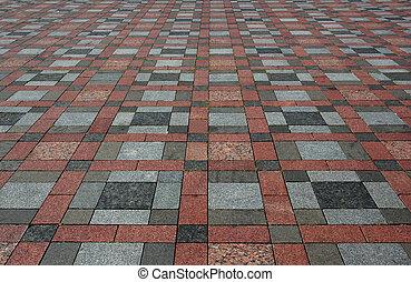 Colourful tiles on the floor