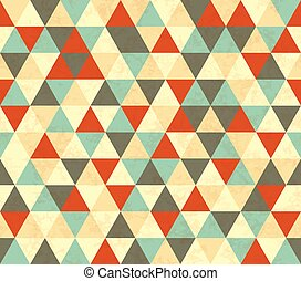 Colourful triangles retro seamless pattern