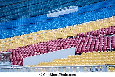 Colourful tribunes