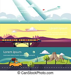 Colourful Vector Flat Banner