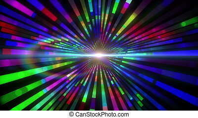 Colourful vortex design with lights - Digital animation of...