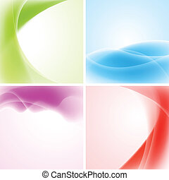 Colourful waves design