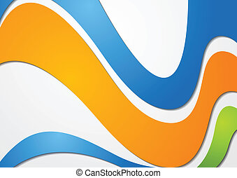 Colourful waves vector background