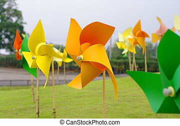 colourful windmill pinwheel