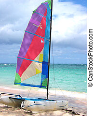 Colourful Windsurf - A colourful windsurf in Punta Cana,...