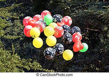 Colourfull balloons in park