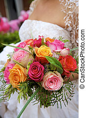 colourfull bouquet - Beautiful flowers for the bride
