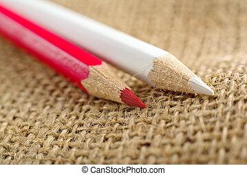 Colouring crayon pencils