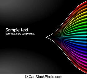 colours arco-íris, fundo, abstratos