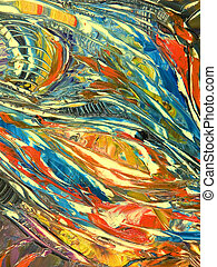 Abstract colours backgrounds from oil canvas