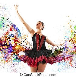 Colours classical dancer - Classical dancer between colours...