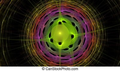 Colours of madness. - HD abstract fractal art transformation...
