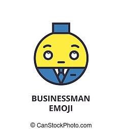 colpi, editable, illustrazione, segno, vettore, icona, uomo affari, linea, fondo, emoji