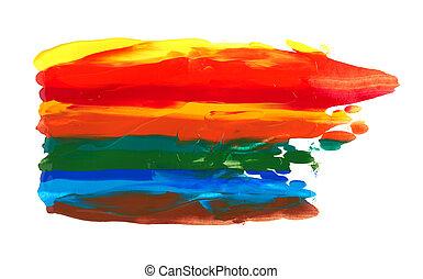 colpi, vernici, arcobaleno