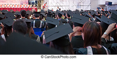 colpo, di, cappucci graduazione, durante, inizio