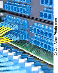 colpo, rete, tecnologia, Cavi, Sistema servizio, dati, centro