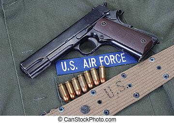 colt goverment 1911 with us air force uniform - colt...