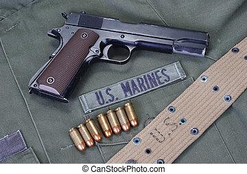 colt goverment 1911 with us marines uniform - colt goverment...