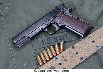 colt goverment 1911 with us navy uniform - colt goverment...
