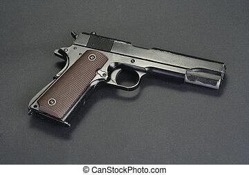 colt goverment M1911 on black background