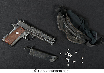 colt government m1911 - close up of military colt government...
