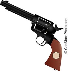 Colt with a wooden handle