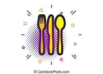 coltelleria, set., forchetta, vettore, coltello, tablespoon.