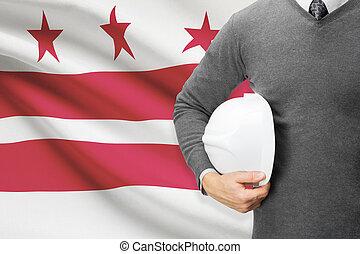 columbia, d.c., distretto, serie, -, bandiera, washington,...