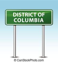 columbia, distretto, segno