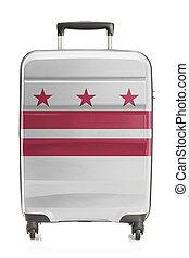 columbia, distretto, serie, -, stato, ci bandiera, valigia
