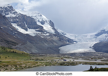 columbia, icefield, in, jasper parco nazionale