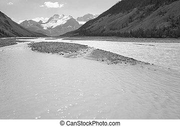 Columbia Icefield landscape in Alberta. Canada