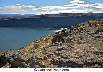 Columbia River in Eastern Washington State, United States.