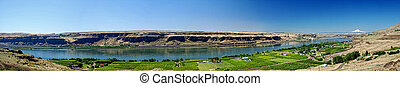 Columbia River Panorama - Panoramic view of the Columbia...
