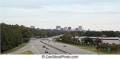 Columbia SC skyline pano - stitched panorama of downtown...