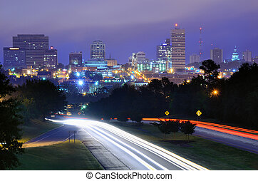 columbia, skyline, carolina sul