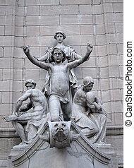 columbus, cerchio, statua