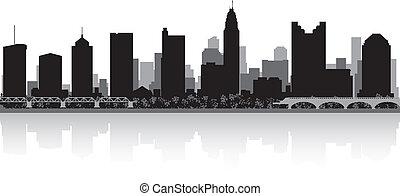Columbus city skyline silhouette - Columbus USA city skyline...