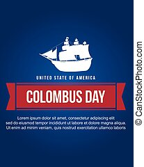 Columbus day background style collection