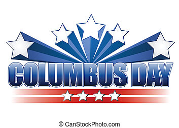columbus day illustration design on white