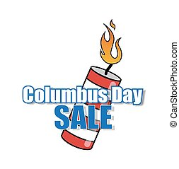 Columbus Day Sale Bomb Vector