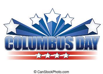 columbus, design, tag, abbildung