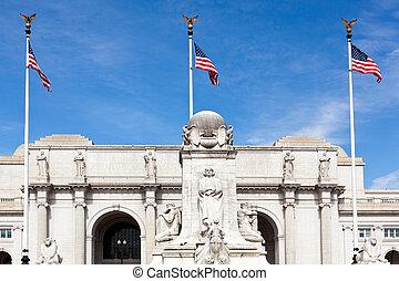 Columbus Fountain Union Station Washington dc - Columbus...
