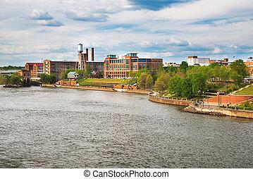 Columbus, Georgia, riverfront and downtown