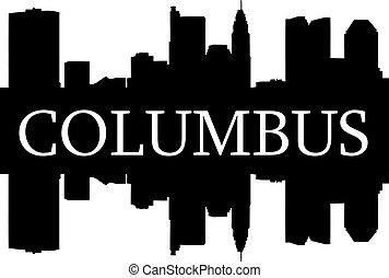 Columbus high-rise buildings skyline