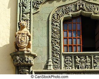 Columbus House Detail(Casa de Colon), Las Palmas, Canary Islands, Spain