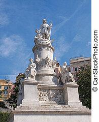 Columbus monument in Genoa