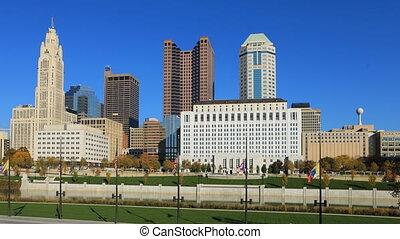 Columbus, Ohio timelapse of the skyline - A Columbus, Ohio...